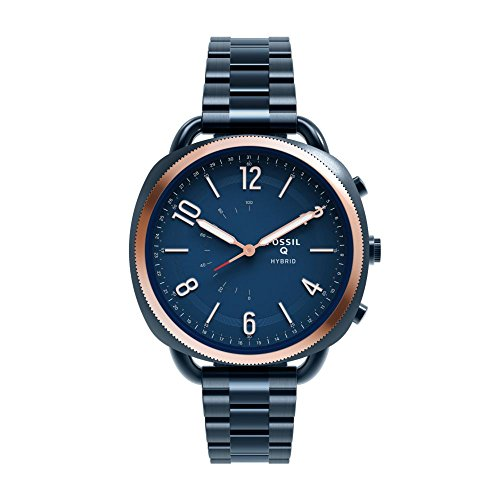 Fossil Q Hybrid Smartwatch Womens Accomplice Slim Ocean Blue Stainless Steel  FTW1203