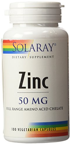 Solaray - Zinc, 50 mg, 100 capsules