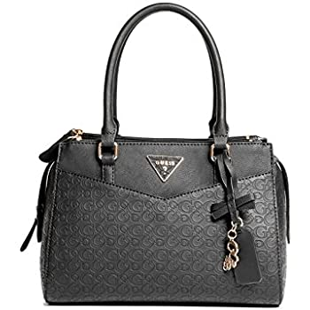 1f660be7fe Amazon.com  GUESS Factory Women s Desire Logo-Embossed Box Satchel ...