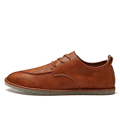 Casual Para Xhd Marrón Color Cordones De Con Sólido Calzado Oxford Shoes Simple Hombre men's BaFqwvanY
