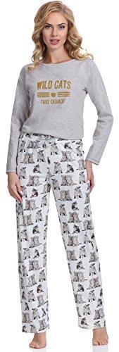 Merry Style Pijama para Mujer 1193 Melange(Cats)-3A
