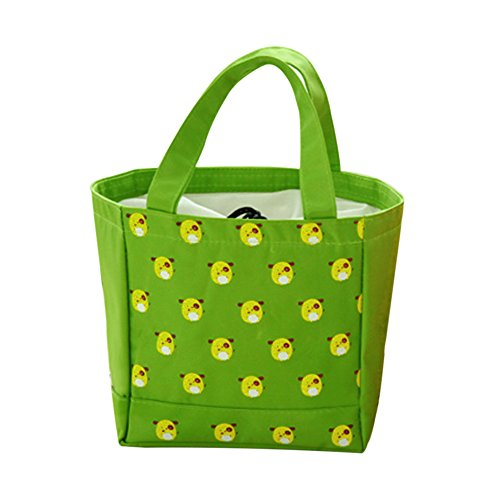 Sealive Waterproof Canvas Insulation Lunch Bag,Cooler Bag Folding Insulation Meal Package Lunch Picnic BaCartoon Small Bag Mummy Bag Lovely - Pak Mummy