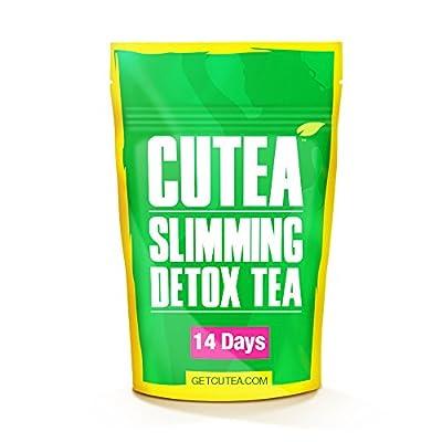 CUTEA Natural Weight Loss Detox Tea, 14 Tea Bags: Reduce Bloating, Promote Fat Loss, Control Appetite & Detoxify the Body - Antioxidant-Rich 100% Natural Tea