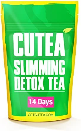 CUTEA Detox Weight Loss Tea – 14 Day Cleanse – Natural Herbal Tea Supplement – Burn Fat Boost Enegery – Control Appetite Detoxify The Body with Rich Antioxidants -Reduce Belly Fat for Women Men.