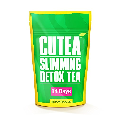 CUTEA Natural Weight Loss Detox Tea, 14 Tea Bags: Reduce Bloating, Promote Fat Loss, Control Appetite & Detoxify the Body - Antioxidant-Rich 100% Natural Tea