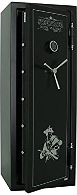 NEW and IMPROVED Steelwater Heavy Duty 16 Long Gun Fire Protection for 60 Minutes AMSW592216-BLK
