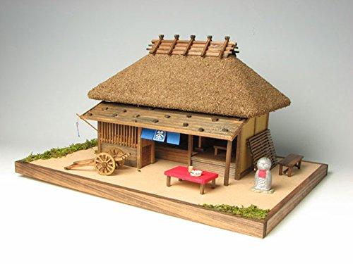 プラッツ 木製建築模型 峠の茶屋 プラモデル