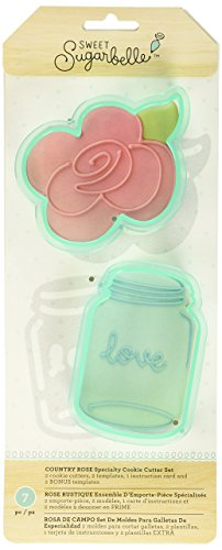 (American Crafts Sweet Sugarbelle Cookie Cutters Country Rose 7 Piece)