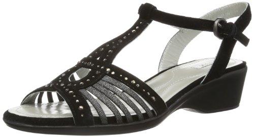Geox D New Coral E - Sandalias de Vestir de otras pieles mujer negro - Noir (Black)