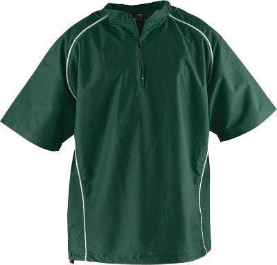(Rawlings Men's Nscj Short Sleeve Batting Cage Jacket(Dark Green, Large))
