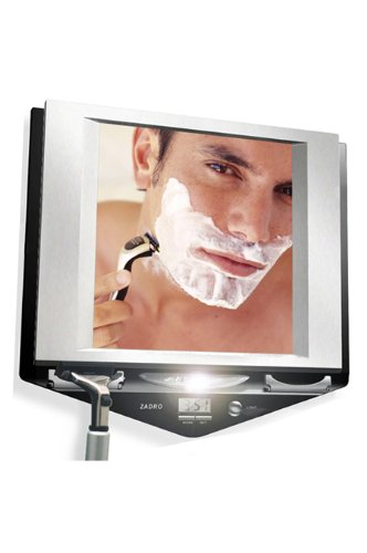 Zadro Led Lighted Fogless Mirror With Clock