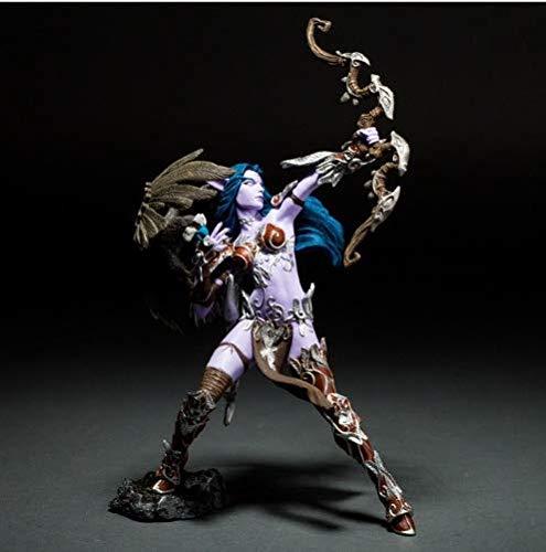 XTOY Night Elf Hunter Alathena Moonbreeze Sorna Figure Wow Collection Model Toy