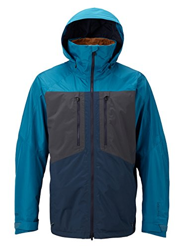 Burton Men's AK 2L Swash Jacket, Mountaineer/Faded/Modigo, Medium (Gore Tex Pant Tech Rain)