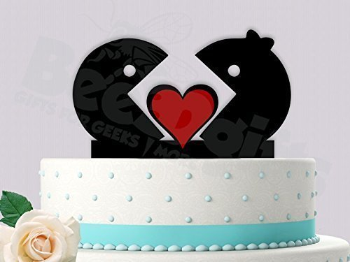 Amazon Com Retro Gamer Inspired Wedding Cake Topper Handmade