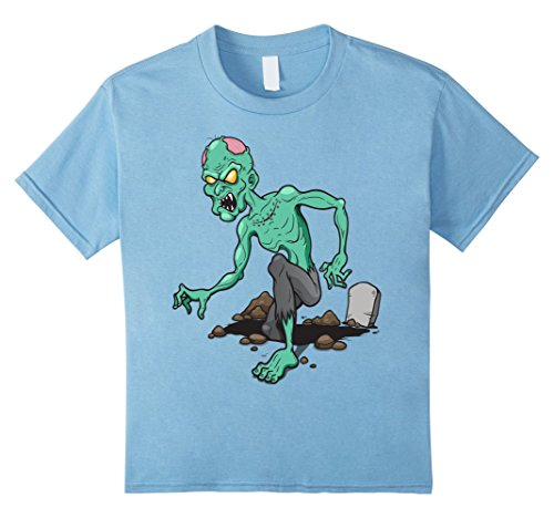 Kids Scary Zombie T-Shirt Retro Halloween Costume Idea 4 Baby Blue - Easy Masquerade Costume Ideas