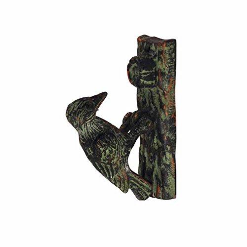 Esschert Design Door Knocker - Woodpecker Green Patina (Bird Knocker Door)