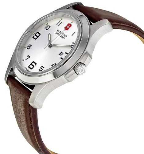 Amazon.com: Victorinox Swiss Army Mens Quartz Stainless Steel and Leather Casual Watch, Color:Brown (Model: VICT241385.CB): Victorinox: Watches