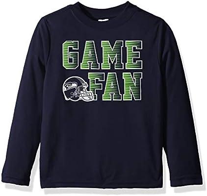 Gerber Childrenswear Playera de Manga Larga para niños de la NFL Seattle  Seahawks 2018T 90e420ad46e