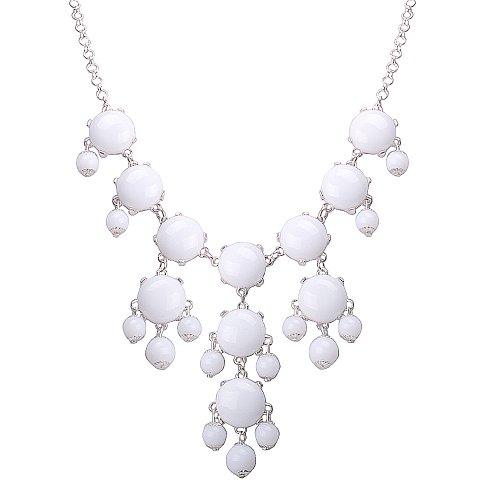 Jane Stone Pure White Mini Bubble Necklace Cluster Jewelry Little Bubble Necklace Fashion Jewelry Bib Statement Jewellery Lovely Necklace Fn0626sm Pure White