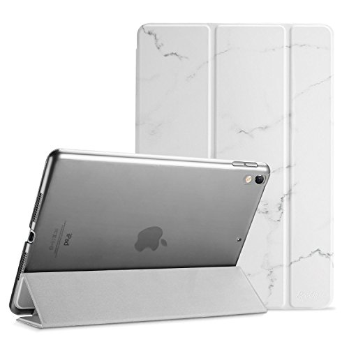 ProCase iPad Pro 10.5 Case 2017, Ultra Slim Lightweight Stand Smart Case Shell with Translucent Frosted Back Cover for All-New Apple iPad Pro 10.5 Inch –White Marble