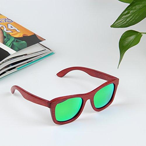libre sol mujer ynport aire al sol gafas para hombre marco gafas gafas rojo de madera bamboon crefreak para de verde wayfrarer de rnanwtx