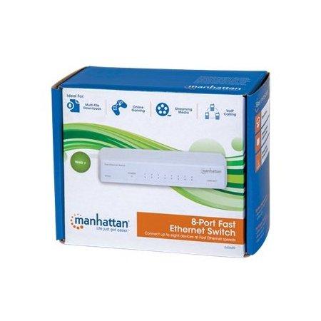 Manhattan(r) 560689 Fast Ethernet Office Switch (8 Port) 6.50in. x 5.25in. x 2.90in. from Manhattan