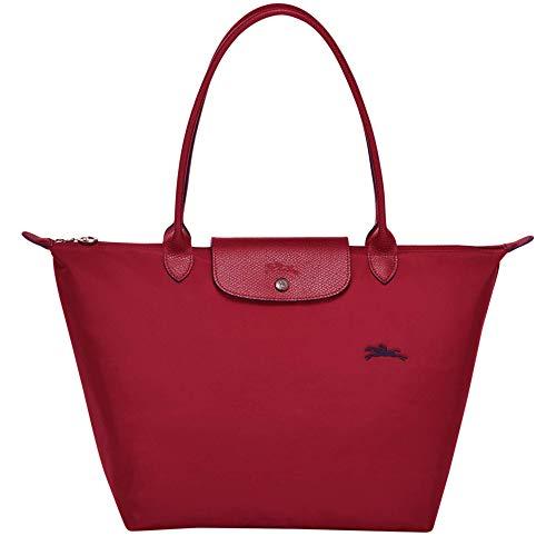 Longchamp Le Pliage Club - Bolso bandolera (tamaño grande), color rojo