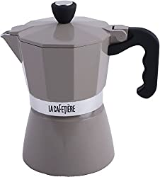 LA CAFETIERE Warm Grey 3 Cup Classic ESPRESSO COFFEE MAKER Percolator from La Cafetire