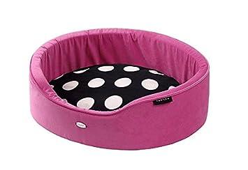 WOUAPY TEMATICOS Basket Pink Paradise - Cama Perro Lunares Rosa - Talla 62: Amazon.es: Productos para mascotas