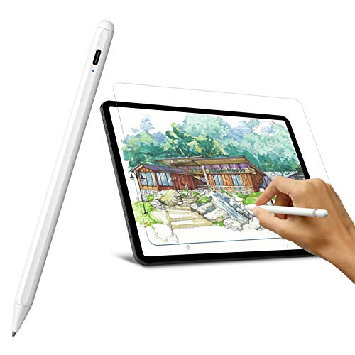 Stylus Pen for iPad Air 4th Gen 2020/iPad Pro 11 inch with Palm Rejection and [2pack] Paperfeel Screen Protector for iPad Air 4th 10.9/iPad Pro 11