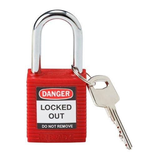 Brady 99552, Red Safety Padlock, (Pack of 10 pcs) by Brady