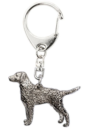 Curly Coated Retriever Made in U.K Artistic Style Dog Key Ring Collection ()