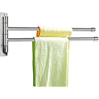 Swinging dish towel hanger