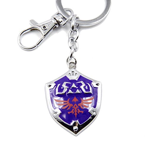 The Legend of Zelda Hylian Shield Keychain (Silver B)