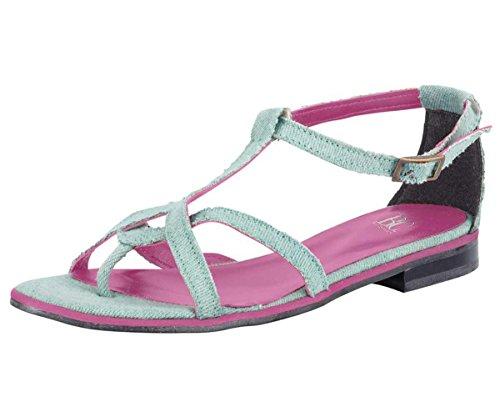 Heine - Best Connections Damen-Schuhe Sandalette Blau