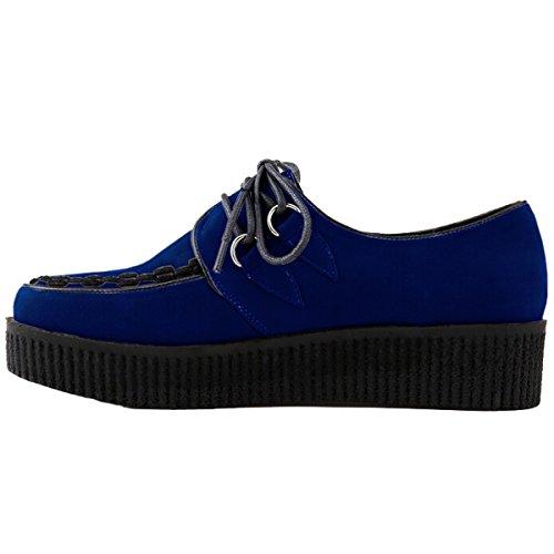 Win8Fong - Zapatos de cordones para mujer Azul - azul