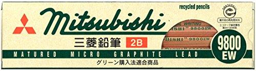 Mitsubishi Pencil Pencil Recycle Pencil 9800 EW 2 B 12 pieces K9800 EW 2 B