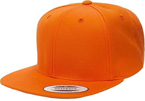 Yupoong Premium Classic Snapback Hat   Flat Brim, Adjustable Ballcap w/Hat Liner ()