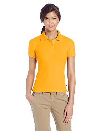 - Lee Juniors Stretch Pique Polo, Gold, Small