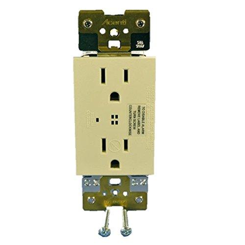 Leviton ACSSR-D Acenti surge protection duplex receptacle,15A-125VAC, NEMA 5-15R - Driftwood