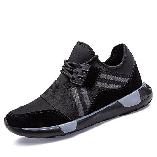 Scarpe sportive traspiranti dell'autunno e dell'inverno degli uomini calzature di marea scarpe da corsa casual black
