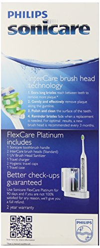 Philips Sonicare Flexcare Platinum Rechargeable Electric Toothbrush with UV Sanitizer, Model HX9170/10 by Philips Sonicare (Image #3)