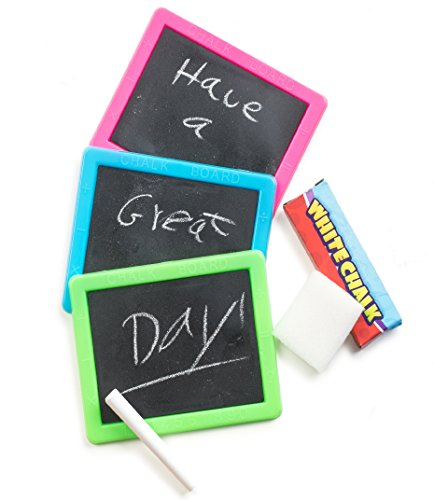 Neon Chalkboard Sets Bulk Pack 1 Dozen Sets, Fun Party Favors, Goody Bag Fillers, Stocking -