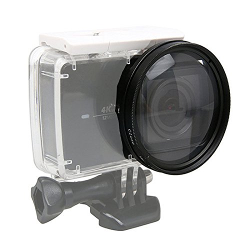 52 mm Macro Lente 10 x aumentos Close Up + 10 objetivo filtro + anillo adaptador para Xiaomi Yi II 4 K Acció n Deporte Cá mara JSR YGcloseup1058