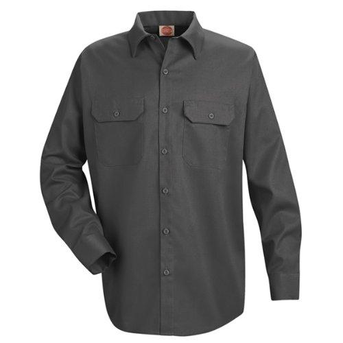 Fire Uniform Shirts (Red Kap Men's Utility Uniform Shirt, Charcoal,)