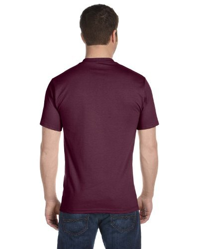 Hanes Men's Comfortsoft 6 Pack Crew Neck Tee - Maroon, used for sale  Delivered anywhere in USA