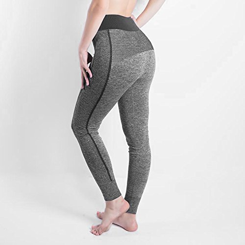 iLUGU Women Gym Yoga Patchwork Sports Running Fitness Leggings Pants Athletic Trouser(S,Black-11) by iLUGU (Image #1)