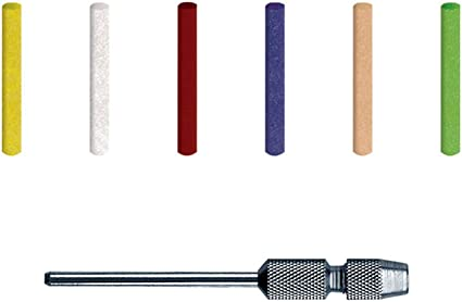 Medium 120 Grit Precision Thermoplastic Rotary Cleaning and Polishing Tool 2mm Pins Dedeco Sunburst 100 Pack