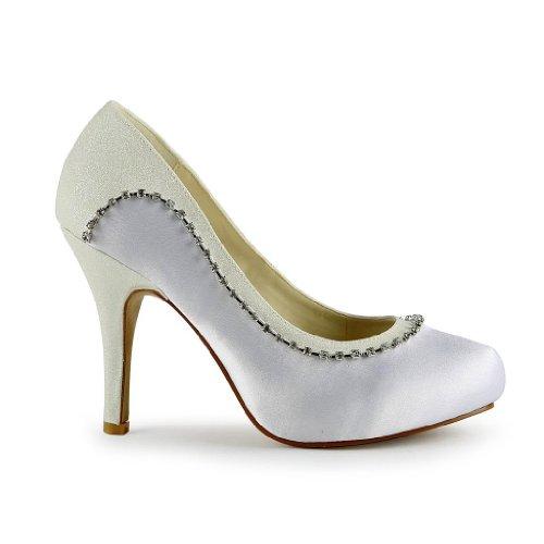 Sposa Tacco Scarpe Wedding Jia Bianco Donna 3705 Col wFfCAq