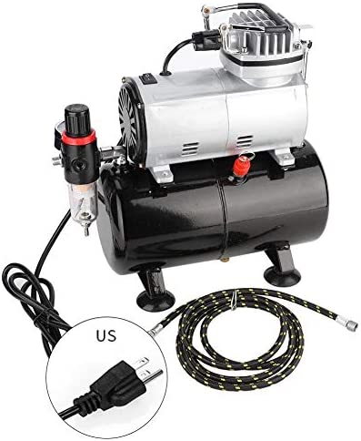 Jarchii Portable Air Compressor 15HP Piston 58Psi 2325Lmin Mini Air Pump Sneaker Spraying Compressor Airbrush Compressor for Model Making Repair Wall Painting(US Plug) / Jarchii Portable Air Compressor 15HP Piston 58Psi 2325Lmin Mi...